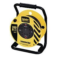 240V Industrial Trade Cable Reel 50 Metres Long With 4 Outlets