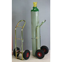 Single Industrial Gas Cylinder Trolley Puncture Proof