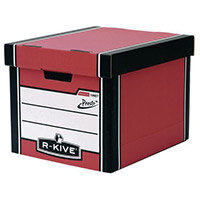 Archive Storage Boxes Tall Pack 10 Red