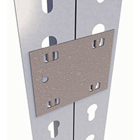 Galvanised Steel Joining Plate For Steel Shelving