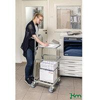 Konga Mini Mail Trolley With 1 Shelf & 1 Basket Bright Zink Plated 35 kg Capacity - 5 Year Warranty