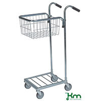Konga Mini Mail Trolley With 1 Basket Bright Zink Plated 35 kg Capacity - 5 Year Warranty