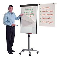 Mobile Whiteboard With Flipchart-Easel