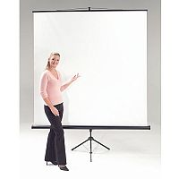 Budget Tripod Portable Projector Screen HxW 1250x1250mm