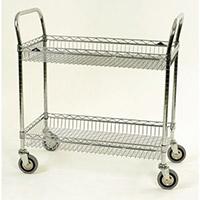 Chrome Basket Shelf Trolley Two Tier Trolley Shelf Width 914Mm Capacity 200kg