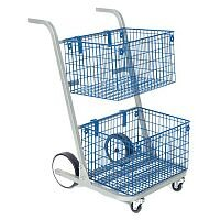 Mail Distribution Trolleys Small Mail Distribution Trolley 2 Baskets