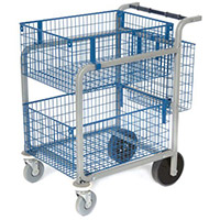 Mail Distribution Trolleys Large Mail Distribution Trolley 3 Baskets