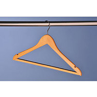Hangers Wooden Removable Pack of 50