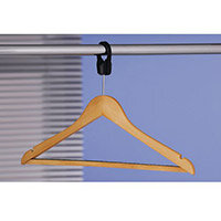 Hangers Wooden Captive Hook Pack of 50