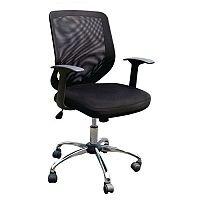 Mesh Back Chrome Framed Ops Chair & Chrome Base