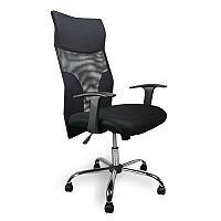 Mesh Shirt Tail Chair In Black & Chrome Base