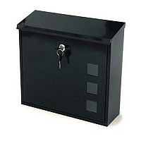 Aire Post Box With Viewing Window Black