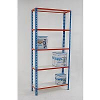 Simonclick Boltless Shelving Unit With 5 Melamine Faced Shelves HxWxD 2000x900x400mm - 175kg Shelf Capacity, Easy To Clean Shelf Surface