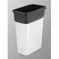 Vileda Geo Range Recycling Compact Slim Bin 55L Metallic/Black Without Lid