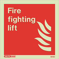Photoluminescent Fire Fighting Equipment Notice Fire Fighting Lift W 150mm