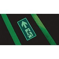 Photoluminescent Floor Mounted Sign WxL 200mm x 400m