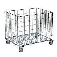Konga Electro Galvanised Wire Basket Truck Rectangular Capacity 100kg