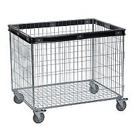 Konga Electro Galvanised Wire Basket Truck Rectangular With Buffering Capacity 100kg