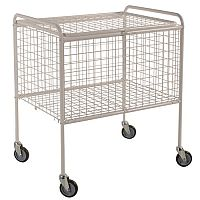 Wire Basket Truck Painted White Capacity 150kg