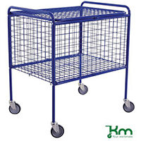Wire Basket Truck Painted Blue Capacity 150kg