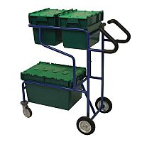 Blue Picking Trolley With Open Frame Capacity 50kg