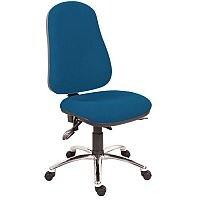 Ergo Comfort 24 Hour High Back Task Operator Office Chair With 5 Star Nylon Base Blue