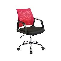Coloured Back Mesh Operator Chair Black & Raspberry