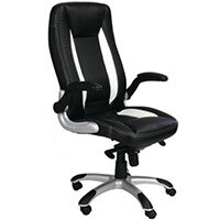 High Back Executive Black & White Office Chair