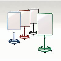 Ultimate Mobile Flipchart Easel And Whiteboard Red