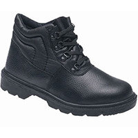 Toesavers Black Dual Density Safety Boots Size 3