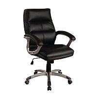 Medium Back Executive Office Armchair Black