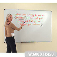 Writeon Dual Faced Whiteboard 600x450mm