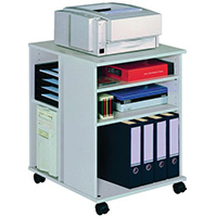 Multi Function Office Storage Trolley Grey