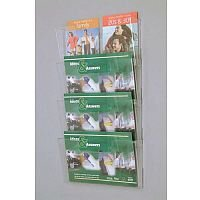 Wall Mounted Waterfall Modular Leaflet Dispenser Pocket Size A4 Landscape