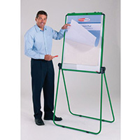 Ultimate Double-Sided Flipchart Easel And Whiteboard Green