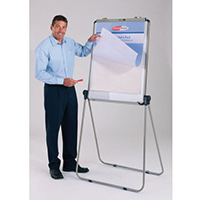 Ultimate Double-Sided Flipchart Easel And Whiteboard Grey