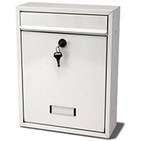 Small Modular Post Box White