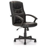 High Back Leather Effect Managers Office Chair