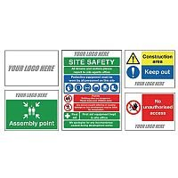 Temporary Construction Sign Starter Pack Material 10mm Correx Pack of 5