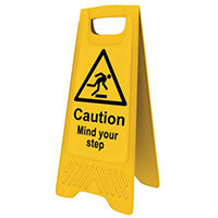 Heavy Duty Pre Printed A Board Caution Mind Your Step