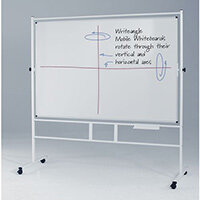Revolving Double-Sided Whiteboard With Magnetic Surface HxW 1200x1200mm