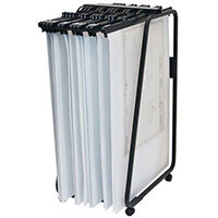 Mobile Plan Filing Trolley For 20 Binders Or 2000 A0 Sheets