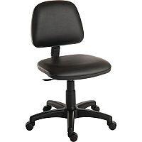 Ergoblaster Medium Back PU Upholstered Typist Office Chair Black