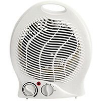 Upright Fan Heater/Cooler Ideal For Winter & Summer - Includes Safety Switch, Distributes Hot & Cold Air Evenly, Integrated Carry Handle.