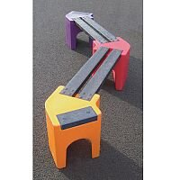 Zig-Zag Childrens Bench Seat 4 Person
