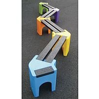 Zig-Zag Childrens Bench Seat 8 Person