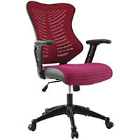 High Back Coloured Executive Mesh Chair Red