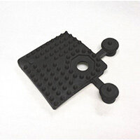 Pvc Corner Pieces For Heavy Duty Open Grid Interlocking Floor Tiles Black