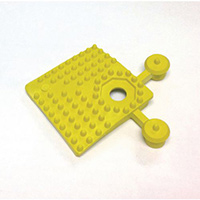 Pvc Corner Pieces For Heavy Duty Open Grid Interlocking Floor Tiles Yellow
