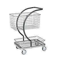 Allround Table Trolley With One Basket & One Tray